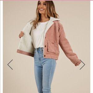 Showpo Shearling and corduroy jacket